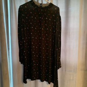 Simply Be black flower tunic